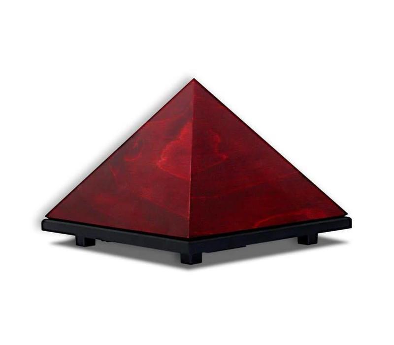 Pyramid Meditation Timer - Varnished Sycamore Wood