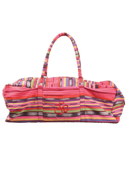 Yogamad Yoga Kit Bag Deluxe - Pink Stripes