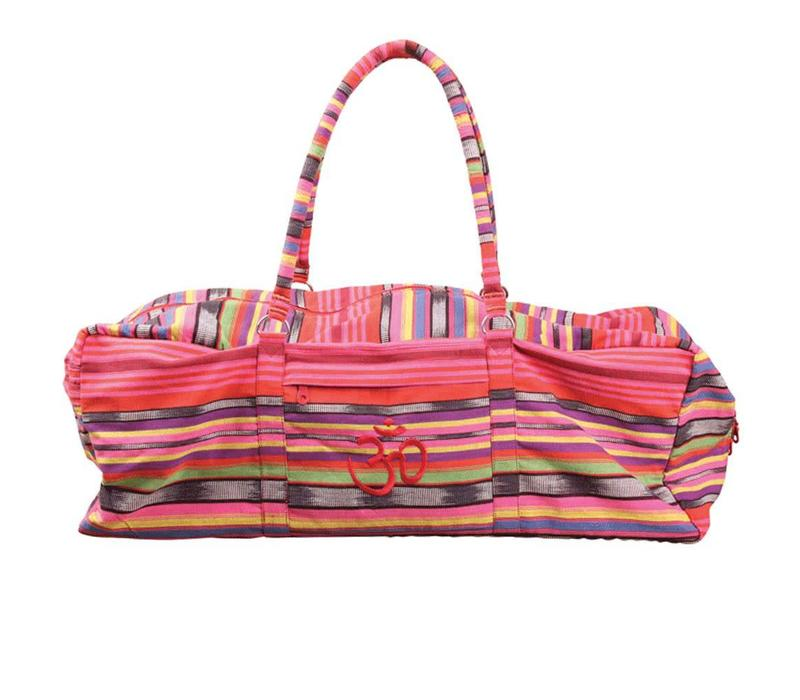 Yoga Kit Bag Deluxe - Pink Stripes