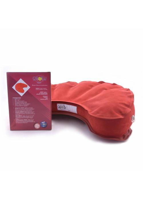Samten Meditation Cushion Inflatable Half Moon - Red