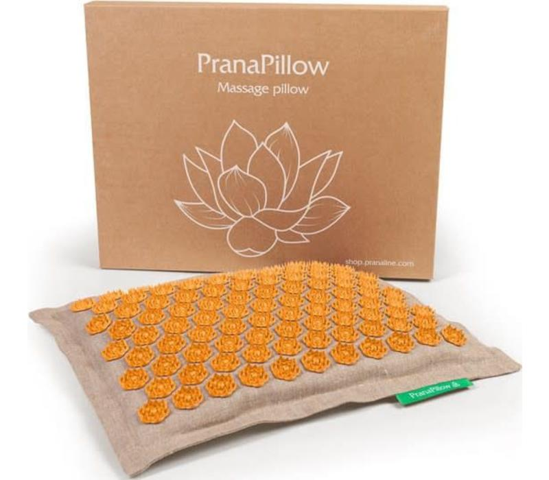 PranaPillow - Naturel/Orange