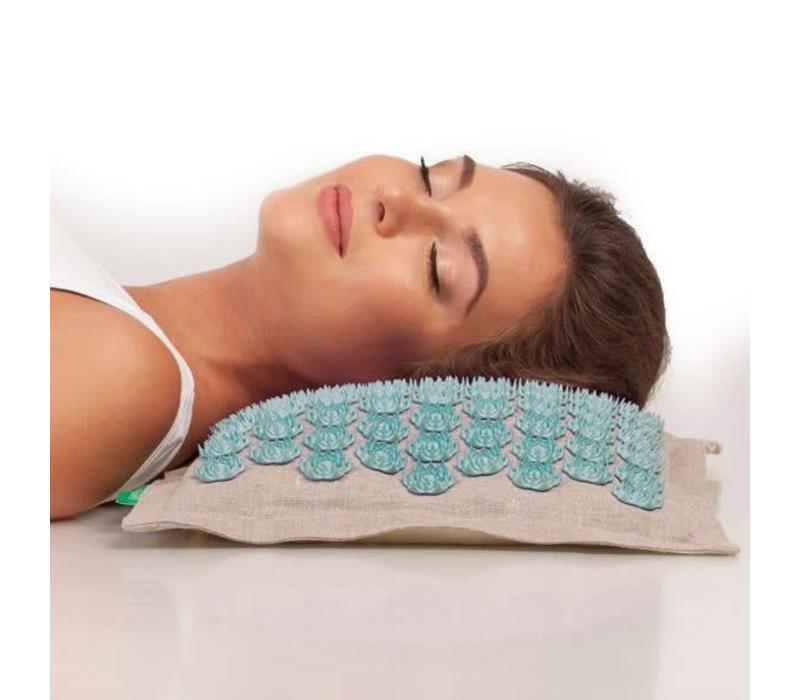 Prana Pillow - Natural/Turquoise