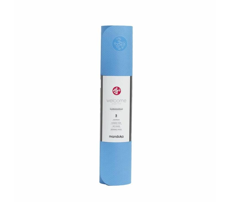 Manduka WelcOMe Yoga Mat 172cm 61cm 5mm - Pure Blue