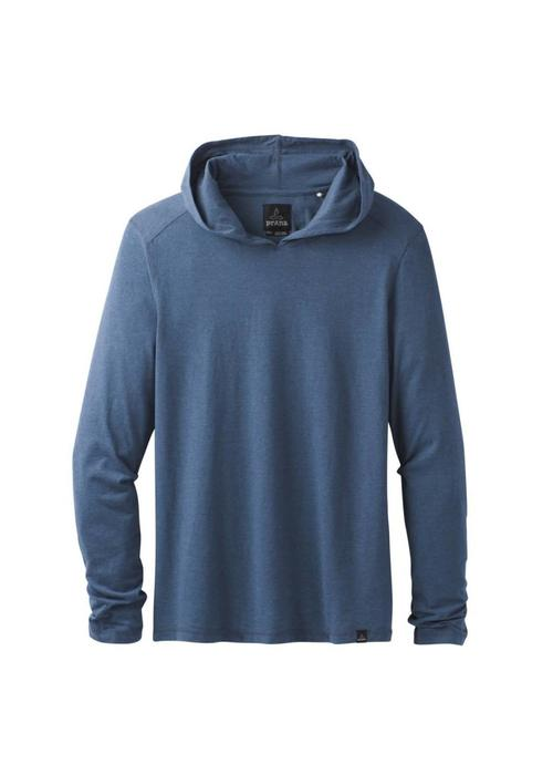 PrAna PrAna LS Hood - Denim Heather