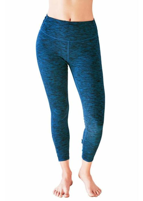 Manduka Manduka Cross Back Crop Leggings - Maldive Melange