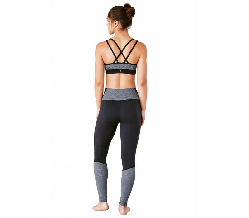 Manduka The High Line Leggings - Black Grey