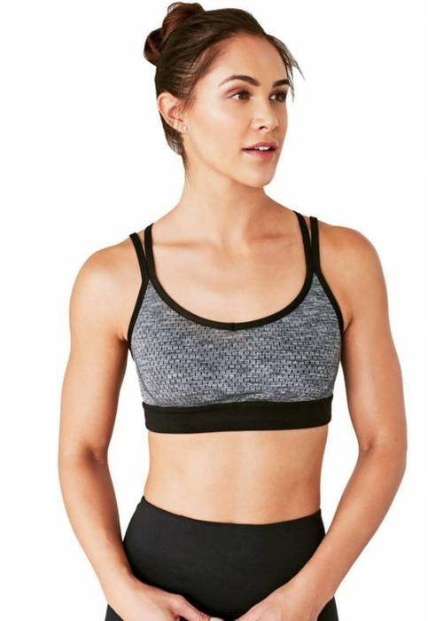 Manduka Manduka Cross Strap Bra - Black Grey