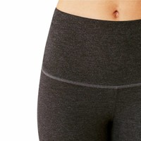 Manduka Eko Cotton High Rise Leggings - Dark Heather Grey