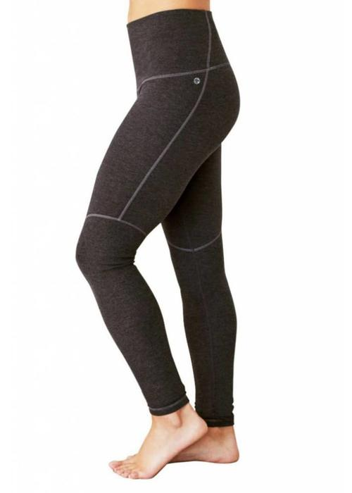 Manduka Manduka Eko Cotton High Rise Leggings - Dark Heather Grey