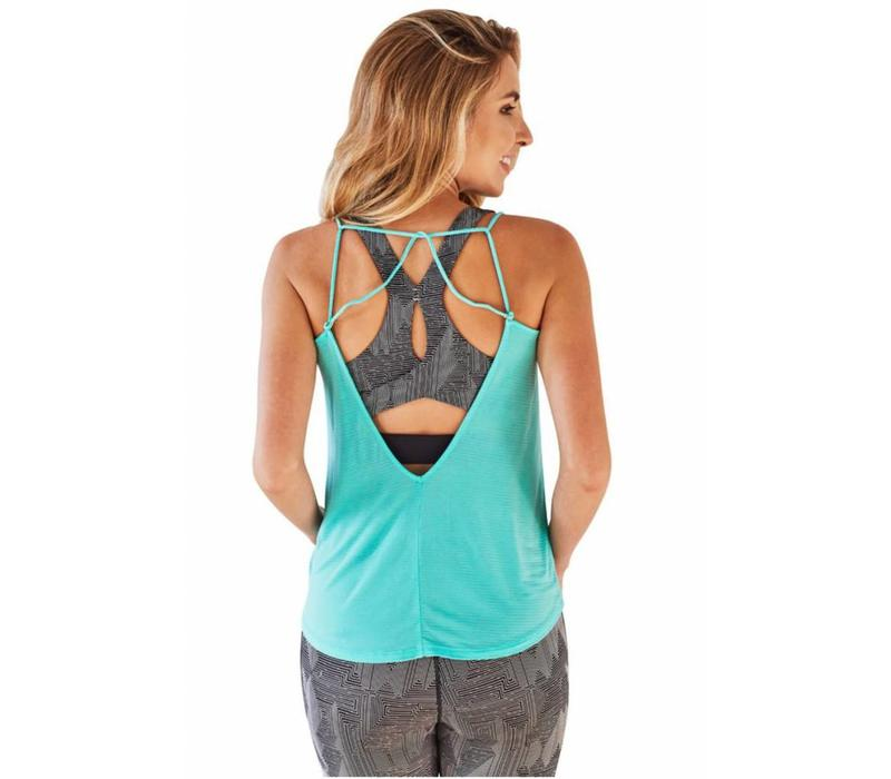 Manduka Breeze Strappy Tank - Seafoam
