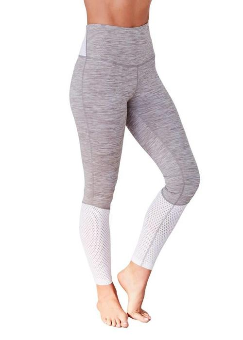 Manduka Manduka The High Line Leggings - Feather Grey Melange