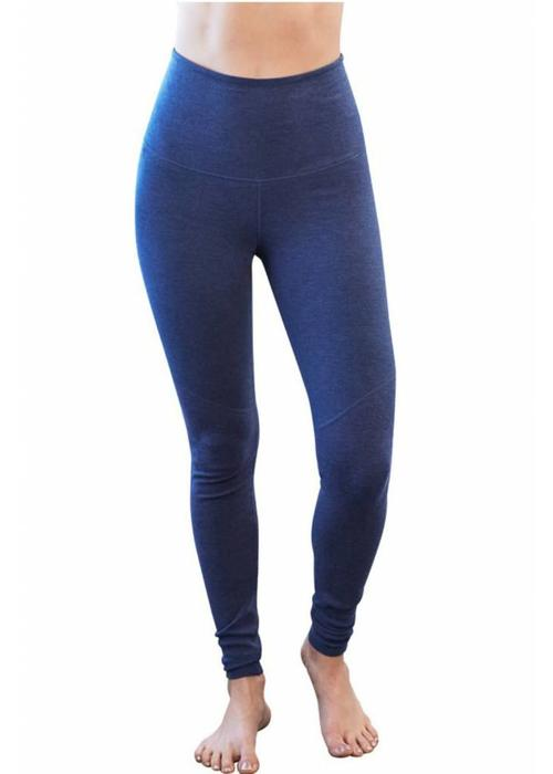 Manduka Manduka Eko Cotton High Rise Leggings - Blueberry Heather