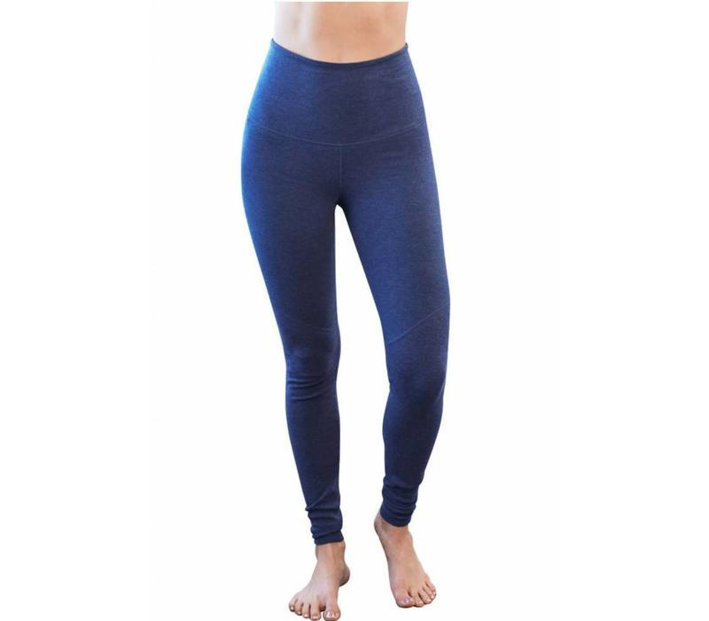 Manduka Eko Cotton High Rise Leggings - Blueberry Heather