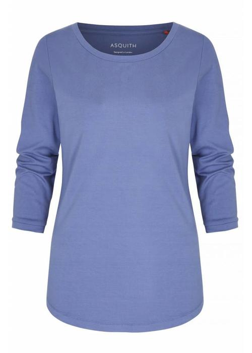 Asquith Asquith 3/4 Sleeve Tee - Surf Blue