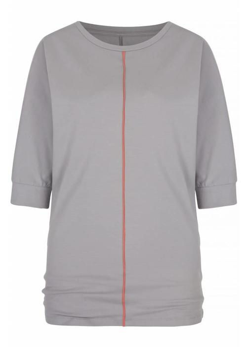 Asquith Asquith Be Grace Batwing - Pearl Grey/Coral