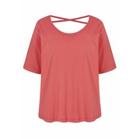 Asquith Criss Cross Tee - Coral