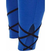 Mandala Contrast Tape Legging Performance Blue