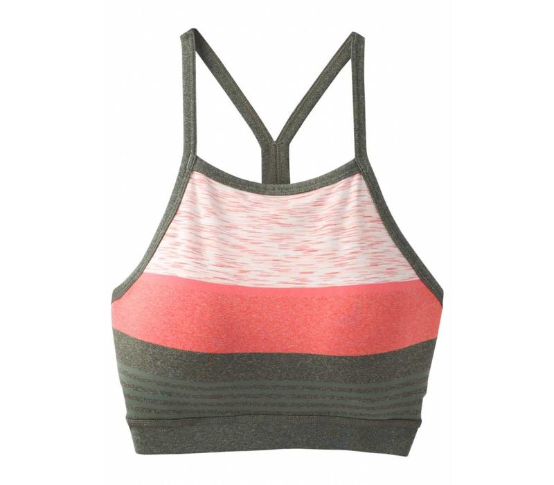 PrAna Alois Bralette - Forest Heather Stripe