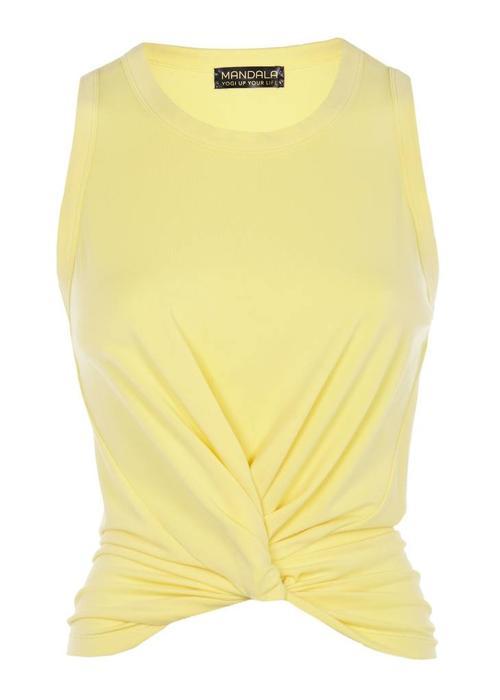 Mandala Mandala Twisted Top - Light Yellow