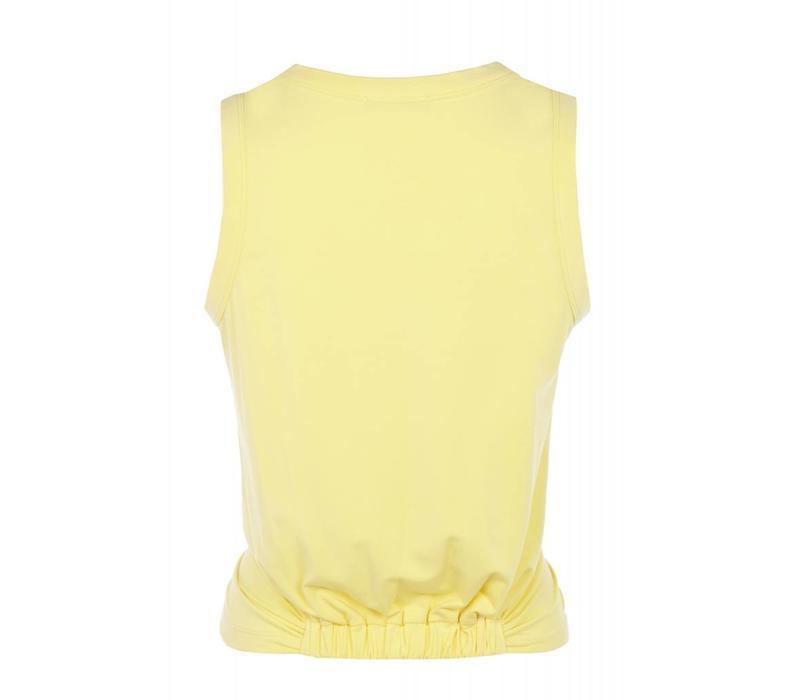 Mandala Twisted Top - Light Yellow