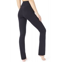 Mandala Roll Over Pants - Black
