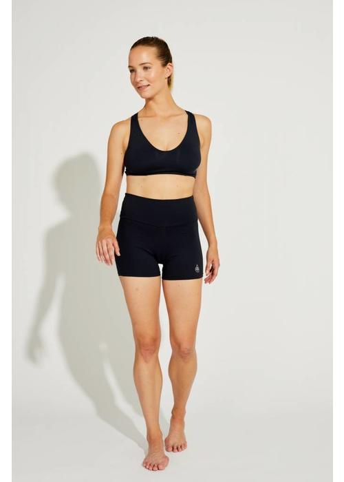 Shakti Activewear Shakti Activewear Mid Rise Shorts - Black