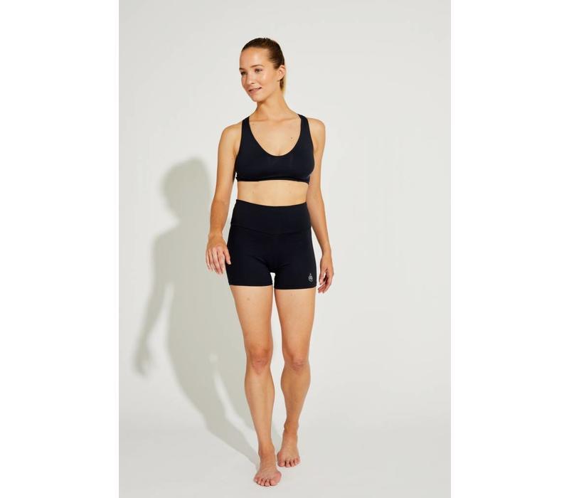 Shakti Activewear Mid Rise Shorts - Black
