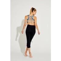 Shakti Activewear Mid Rise Capri - Black