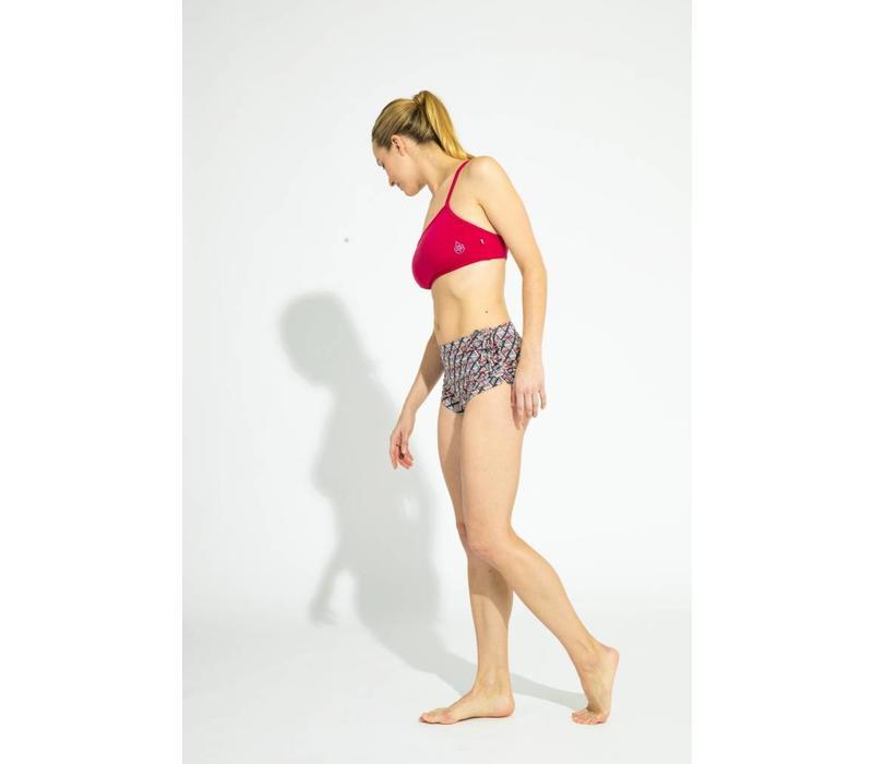 Shakti Activewear Ellie Top - Bordeaux Red