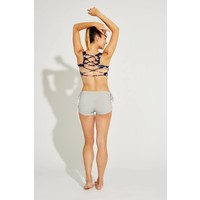 Shakti Activewear Side String Shorts - Cloud Grey
