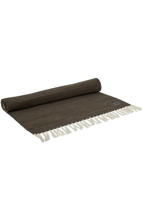 Yogisha Yogamatte Teppich Bio-Baumwolle 200cm 65cm 2mm - Braungrün