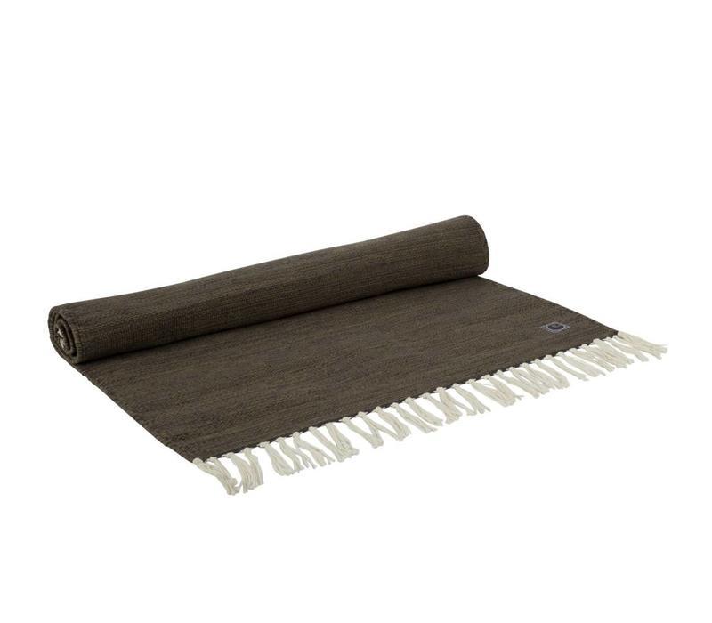 Yogamat Katoen 200cm 65cm 2mm - Bruingroen