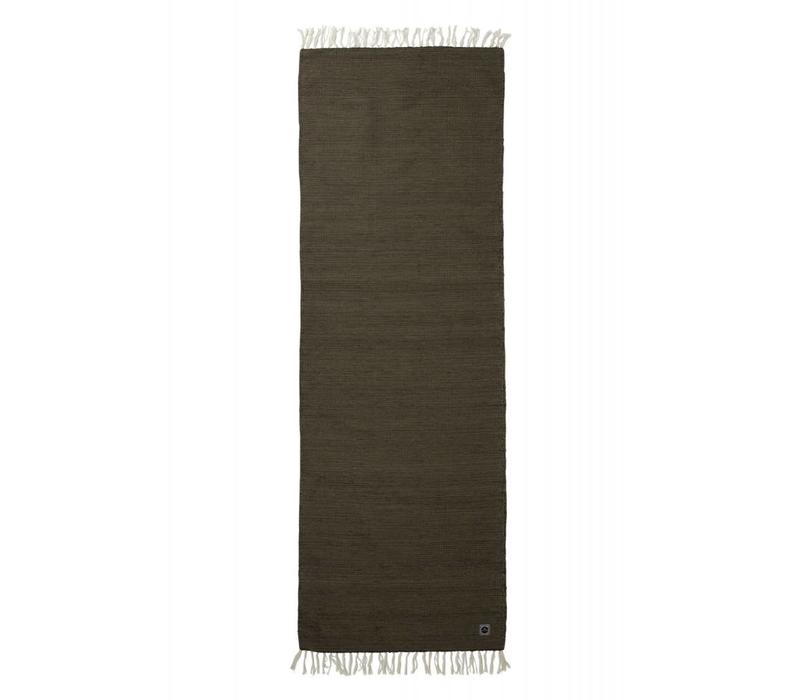 Yoga Rug Organic Cotton 200cm 65cm 2mm - Brown Green