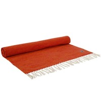 Yoga Mat Organic Cotton 200cm 65cm 2mm - Orange