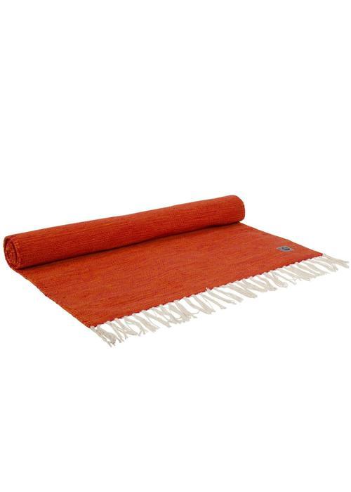 Yogisha Yogamatte Teppich Bio-Baumwolle 200cm 65cm 2mm - Orange