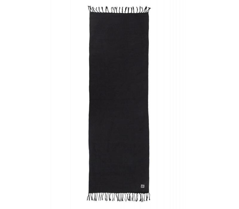 Yoga Rug Organic Cotton 200cm 70cm 2mm - Black