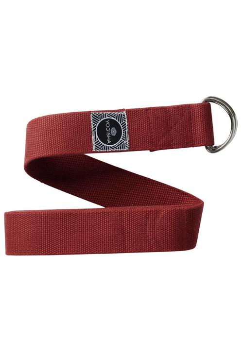 Yogisha Yoga Strap Organic Cotton - Burgundy