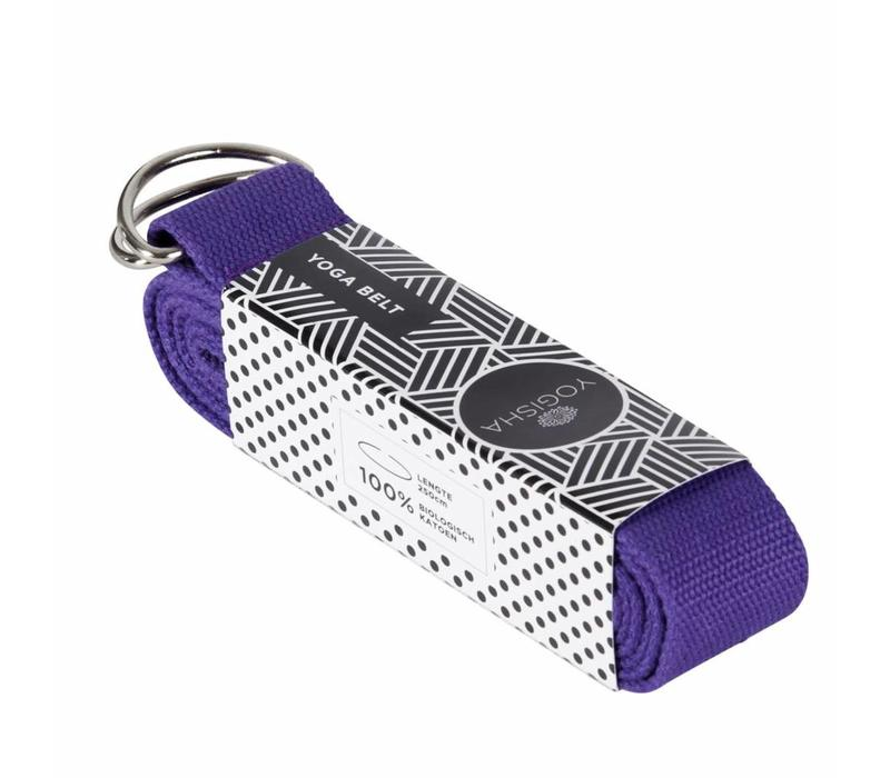 Yoga Strap Organic Cotton - Purple