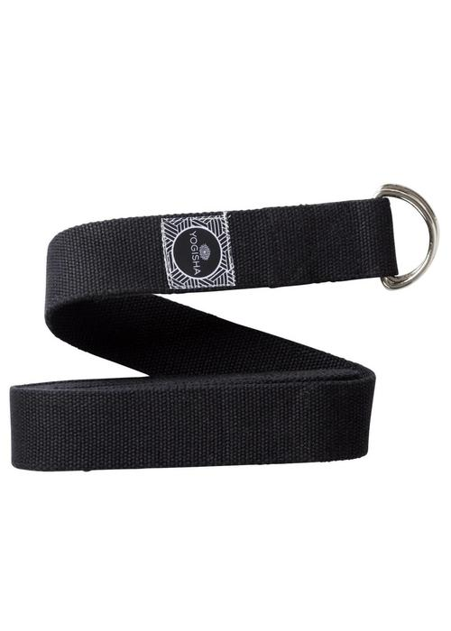 Yogisha Yoga Strap Organic Cotton - Black
