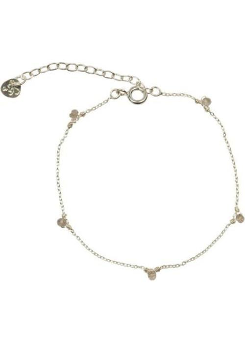A Beautiful Story A Beautiful Story True Rose Quartz Silver Bracelet