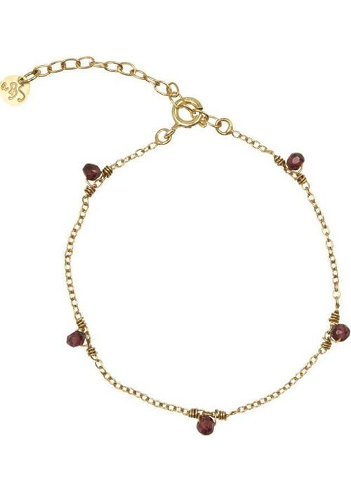 A Beautiful Story A Beautiful Story True Garnet Gold Bracelet