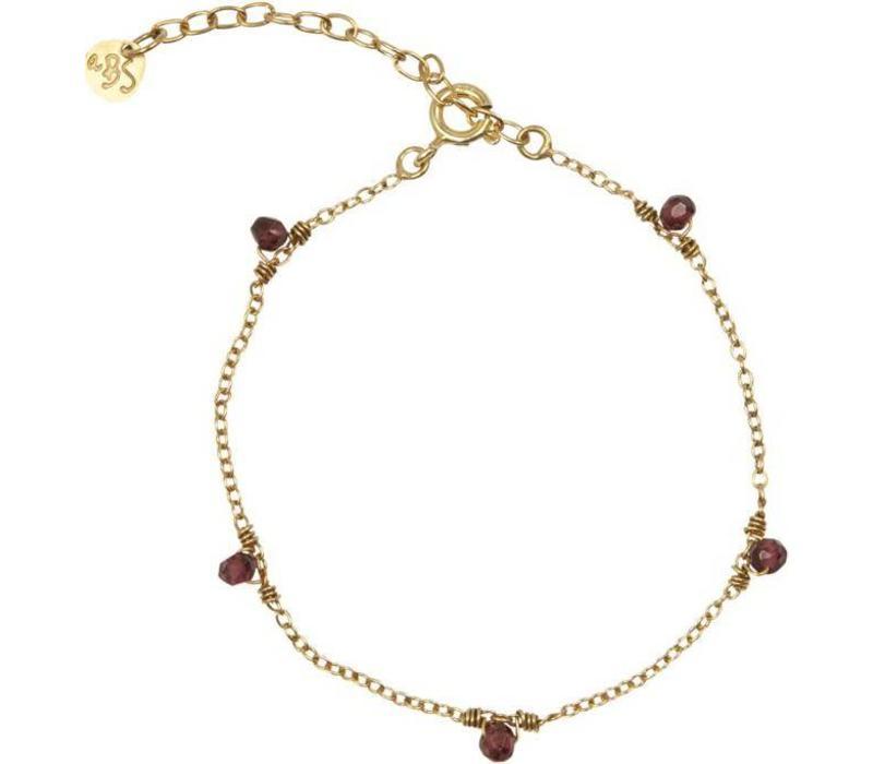 A Beautiful Story True Garnet Gold Bracelet