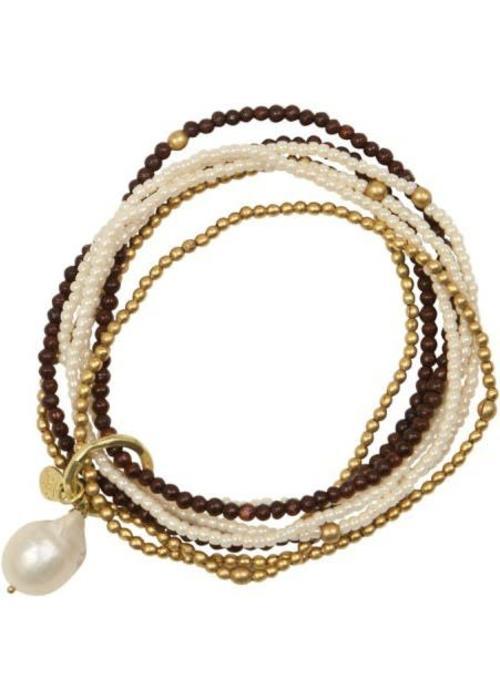 A Beautiful Story A Beautiful Story Nirmala Pearl Gold Bracelet