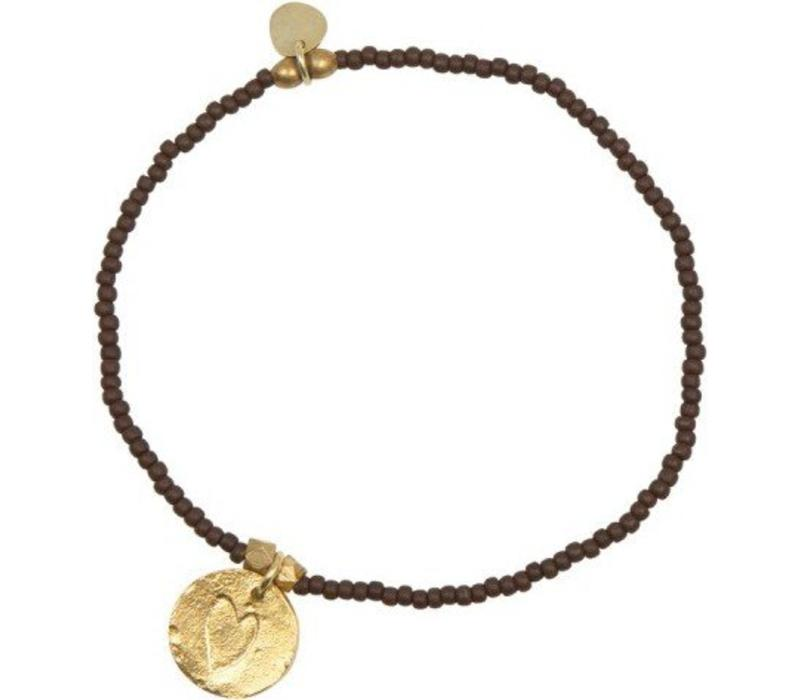 A Beautiful Story Wonder Heart Gold Bracelet