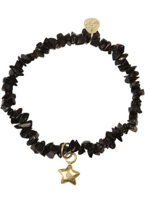 A Beautiful Story A Beautiful Story Power Black Onyx Gold Bracelet