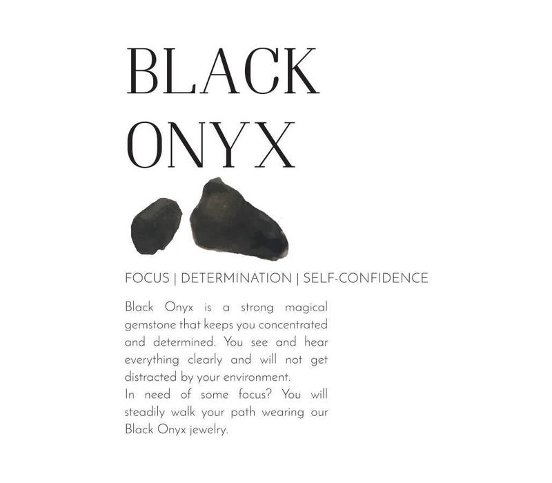 A Beautiful Story Power Black Onyx Gold Bracelet