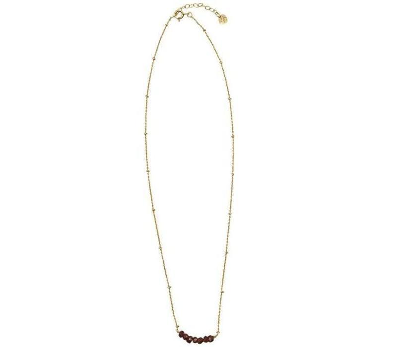 A Beautiful Story Bliss Garnet Gold Necklace