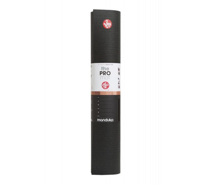Manduka Pro Yoga Mat 180cm 66cm 6mm - Black
