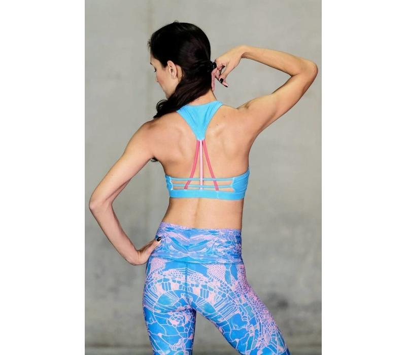 Niyama Sol Weaver Sports Bra - Azure