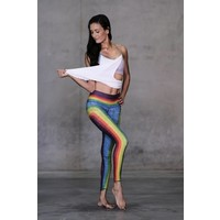 Niyama Sol Barefoot Legging - Retro Rainbow